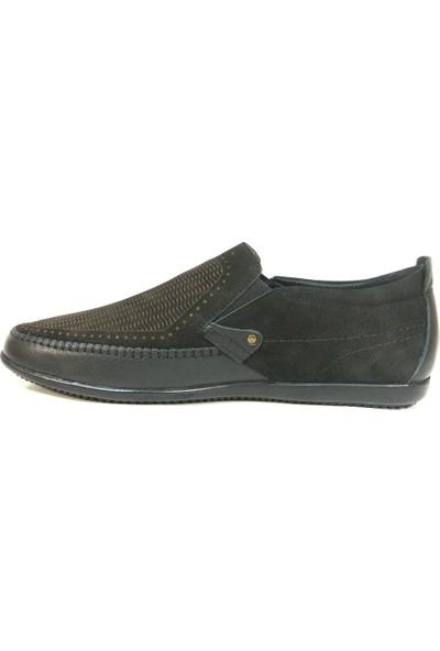 Dropland 3439 Siyah Bağcıksız Casual Erkek Ayakkabı