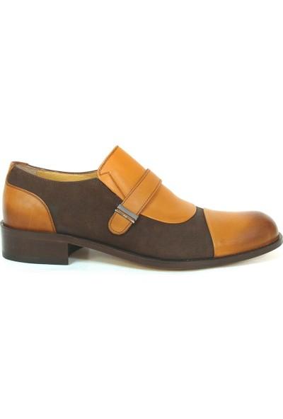 Ekici 3848 Taba Kahverengi Bağcıksız Kösele Erkek Ayakkabı