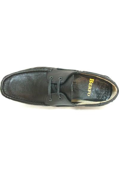 Berfo 4534 Siyah Bağcıklı Erkek Ayakkabı