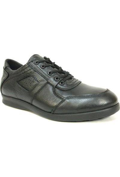 Le Monad Siyah Bağcıklı Casual Erkek Ayakkabı