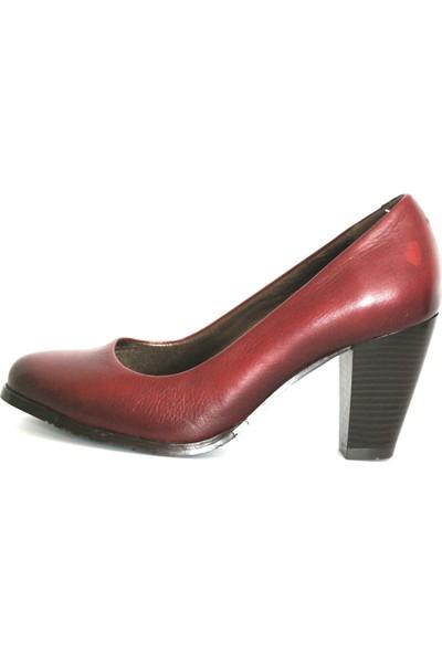 Akl Shoes Bordo Deri Stiletto