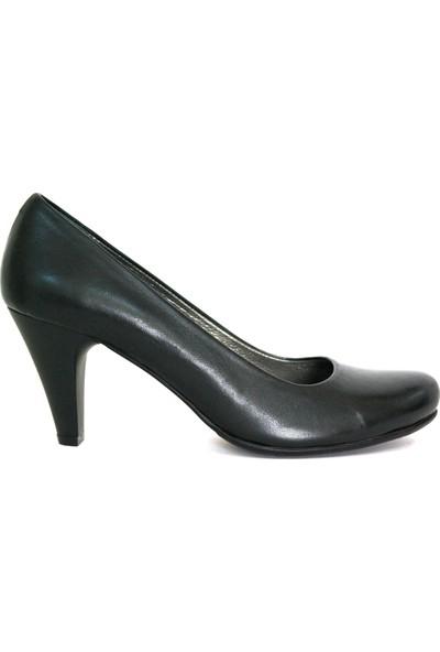 Akl Shoes Siyah Deri Stiletto