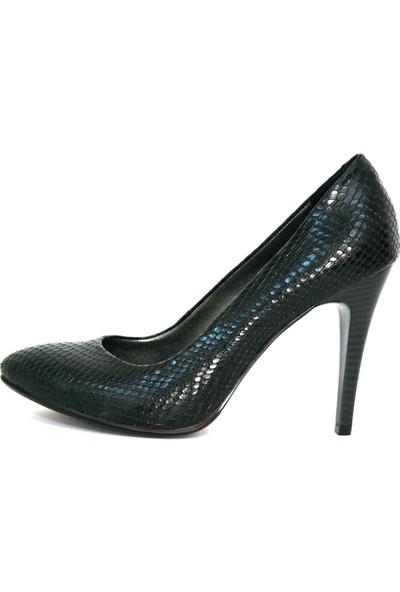 Akl Shoes Siyah Yılan Stiletto