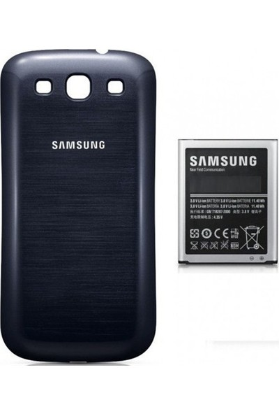 Emirtech Samsung Galaxy i9300 S3 Cep Telefonu Pil Batarya Kapağı + Batarya
