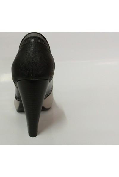 Elberdi Siyah Gri Bej Bayan Platform Ayakkabı