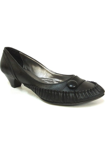 Jasmine 087 Siyah Topuklu Bayan Ayakkabı