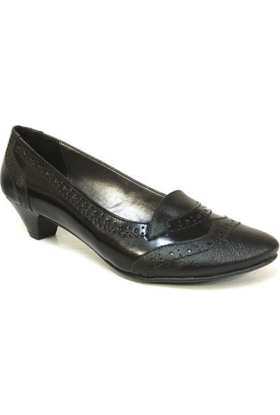 Jasmine 064 Siyah Topuklu Bayan Ayakkabı