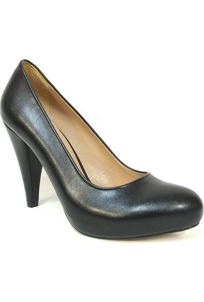 Zenay 100 Siyah Deri Platform Bayan Ayakkabı