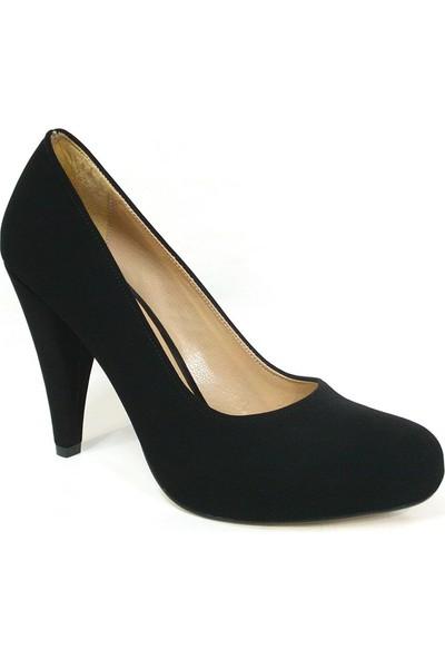 Zenay 100 Siyah Nubuk Deri Platform Bayan Ayakkabı