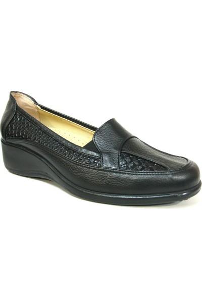Lucianna Bella 126 Siyah Dolgu Topuk Anne Ayakkabısı
