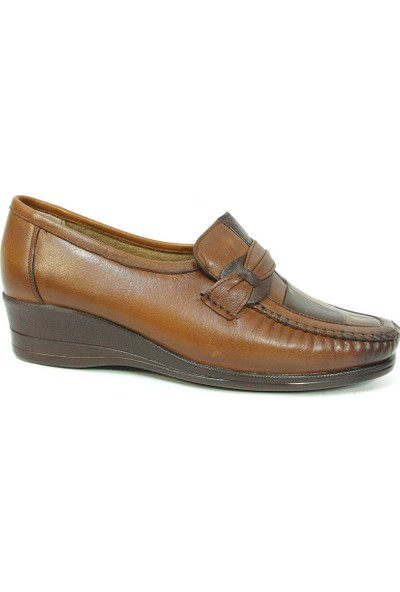 Filik 104 Kahve %100 Deri Comfort Bayan Ayakkabı