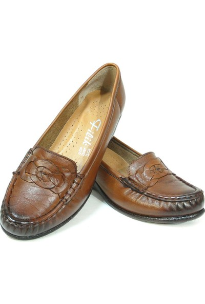 Filik 127 Kahverengi %100 Deri Comfort Bayan Ayakkabı
