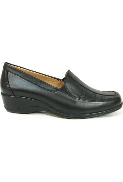 Lucianna Bella 009 Siyah Dolgu Topuk Anne Ayakkabısı