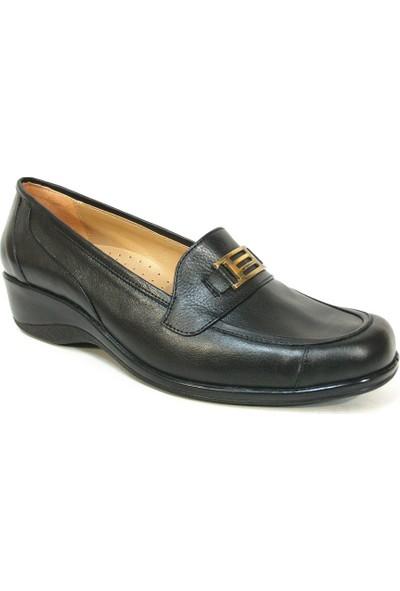 Lucianna Bella 140 Siyah Dolgu Topuk Anne Ayakkabısı