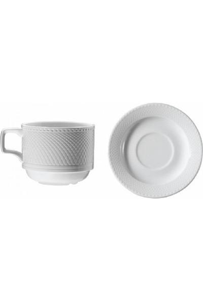 Kütahya Porselen Kahve Fincanı Tabaklı 6'Lı