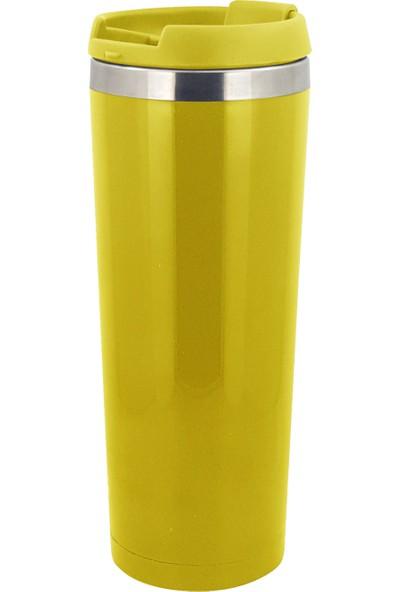 Allmug İçi Çelik Renkli Termos - Sarı