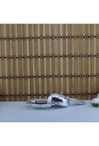 Tahtakale Toptancısı Plastik Lokumluk Oval Püsküllü Altın/Gümüş Kaplama (12 Adet)