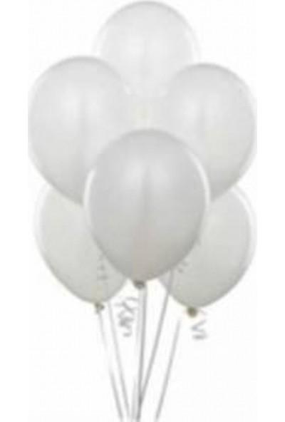 Sihirli Parti Baskısız Metalik Balon Beyaz (20 Adet)