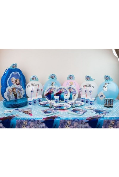 Sihirli Parti Frozen Doğum Günü Süper Parti Seti 16 Kişilik
