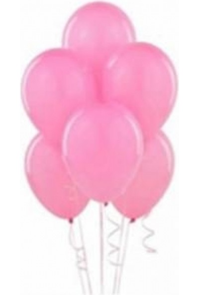 Sihirli Parti Metalik Balon Pembe (20 Adet)