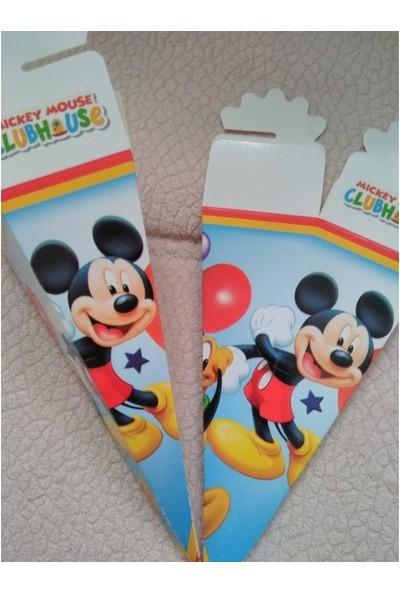 Sihirli Parti Mickey Mouse Şeker Lokum Külahı (25 Adet)