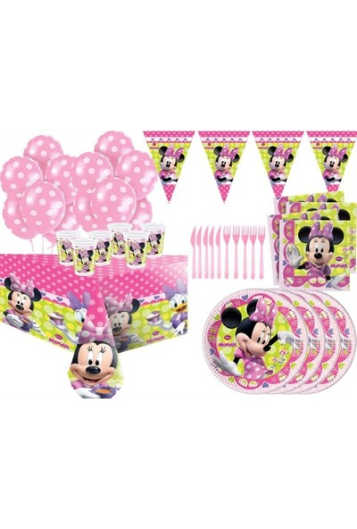 Sihirli Parti Minnie Mouse Parti Seti 16 Kişilik