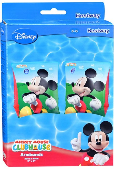 Disney Mickey Mouse Clubhouse Armbands / Bestway 91002 Mickey Mouse Kolluk 23 Cm