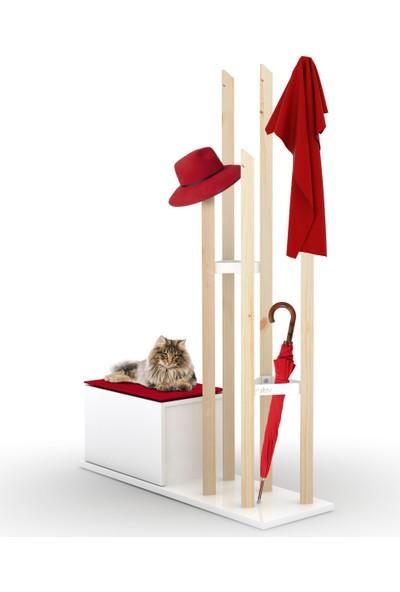 Rafevi Katana Portmanto (Kırmızı)