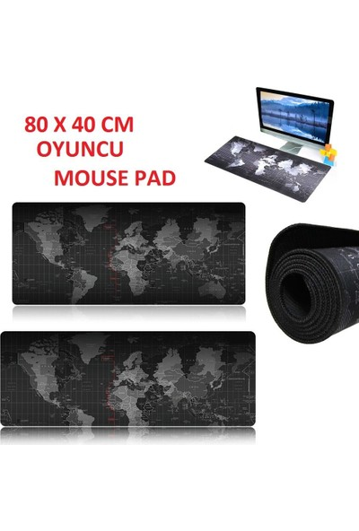 Appa Dünya World Oyuncu Mouse Pad 80 X 40 Cm