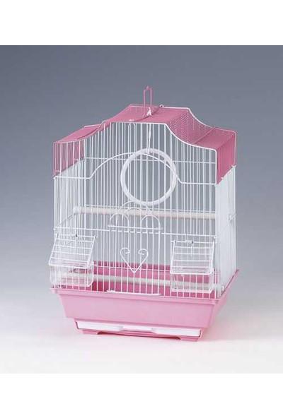 Qh Pet Cage Qh Kuş Kafesi Pirinç Kaplama (30 X 23 X 39)