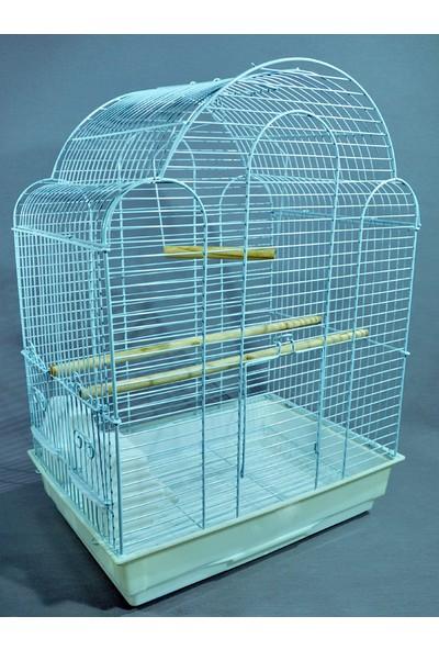 Qh Pet Cage Kafes Bombeli Çatı Beyaz 42X30X56 (6)