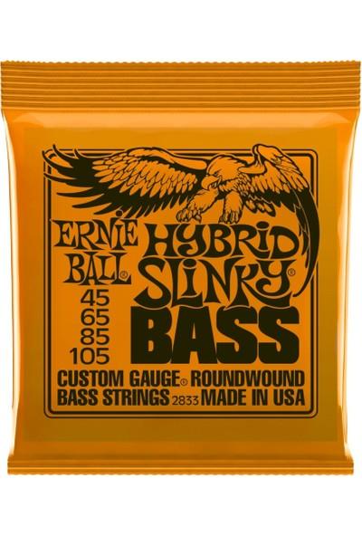 Ernie Ball P02833 Hybrid Slinky Nickel 45-105 (4 Telli) Bas Gitar Teli