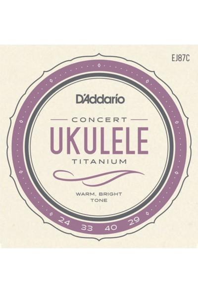 Daddarıo Ej87C Set Ukulele Teli Concert Tıtanıum Ukulele