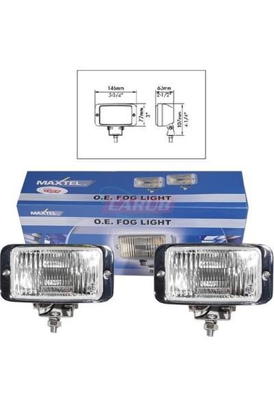 Nettedarikcisi MAXTEL Sis Lambası 12V 146X77mm Krom Beyaz JF837CW
