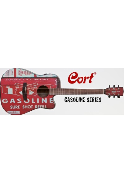 Cort Gasolıne2Bks Elektro Akustik Gitar