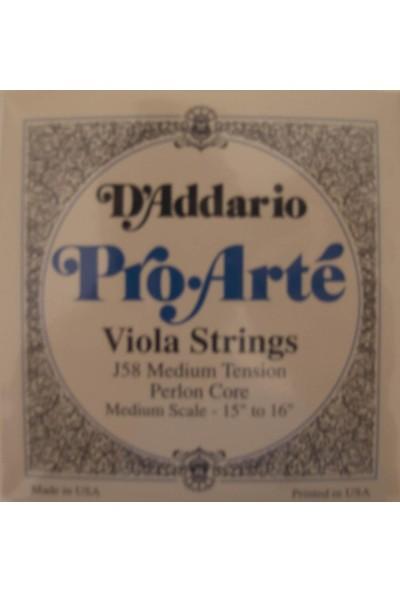 Daddarıo J58 Viola Tel Set Pro-Arte Set Med 44