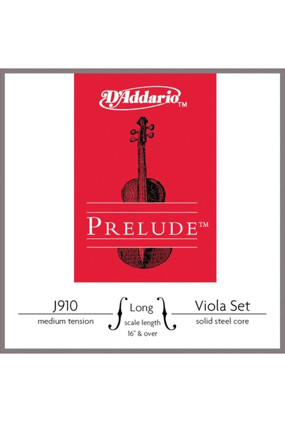Daddarıo J910Lm Viola Tel Set Prelude String Set(44) Medium Long