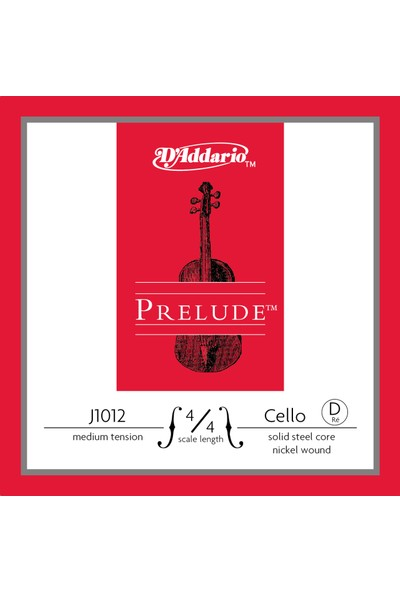 D'Addario J1012 4/4M Prelude D Çello Teli (Re)