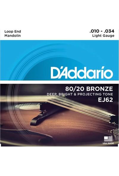 Daddarıo Ej62 Mandolin Teli Set 8020 Bronze: Ej62