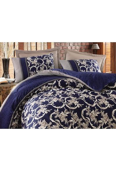Cottonbox Royal Saten Çift Kişilik Uyku Seti Pera Lacivert