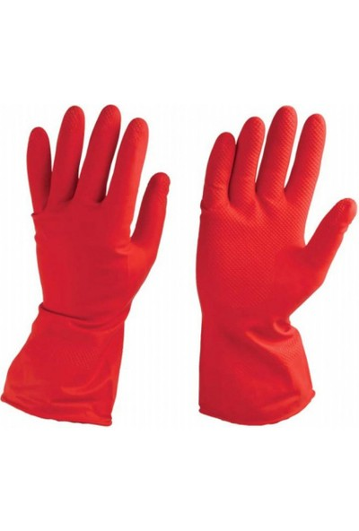 Cornex Kırmızı Bulaşık Eldiveni 7-7,5 Numara 1 Çift