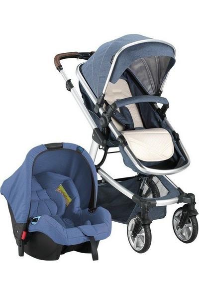 Babyhope Santana Travel Sistem Bebek Arabası Mavi