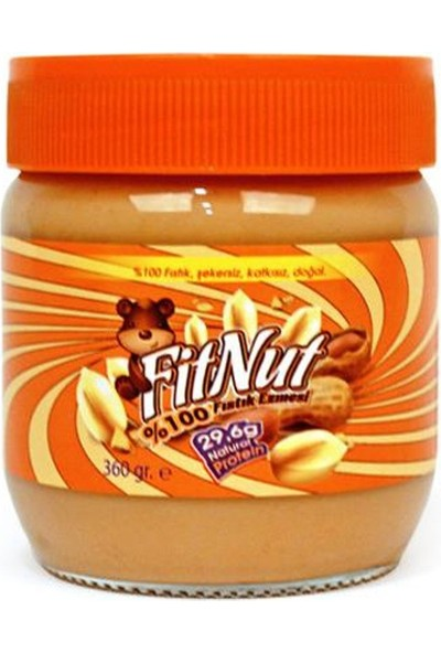 Fitnut Doğal Şekersiz Fıstık Ezmesi (Net 360 Gr)