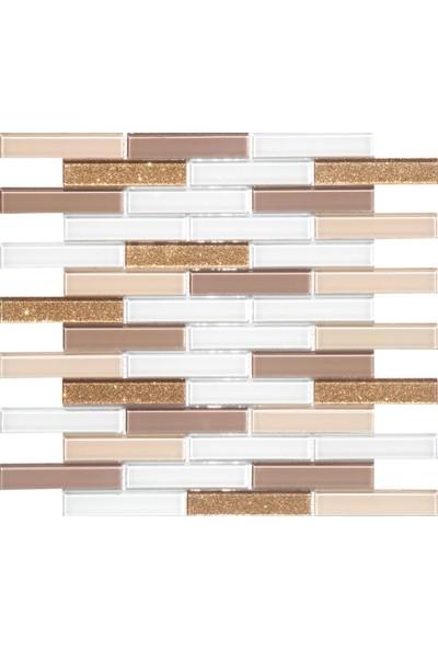 Mcm Mutfak Tezgah Arası Kristal Cam Mozaik Mp921 - 20 x 98