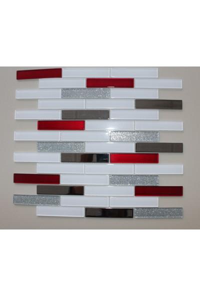 Mcm Mutfak Tezgah Arası Kristal Cam Mozaik Mp925 - 20 x 98
