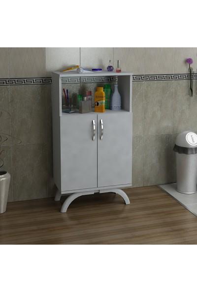 Kalender Dekor Mathilda Çok Amaçlı Banyo Dolabı (Beyaz)