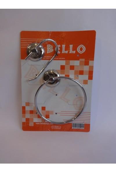 Bello 2'li Set ( Açık Wc Kağıtlık + Yuvarlak Havluluk )