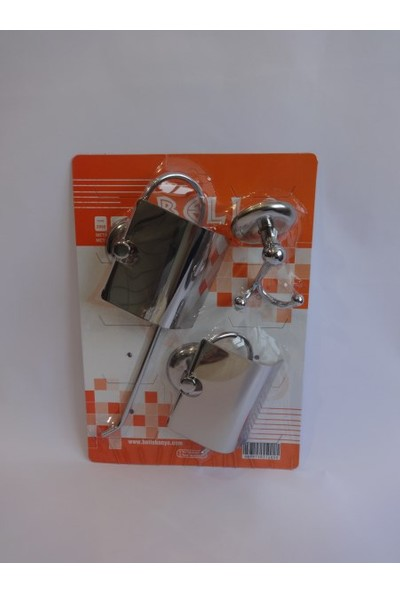 Bello 3'lü Set ( Kapalı Wc Kağıtlık + Kapalı Solo Havluluk + Çiftli Bornozluk )