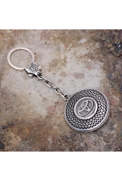 Sümer Telkari Telkari İşlemeli Gümüş Anahtarlık 46