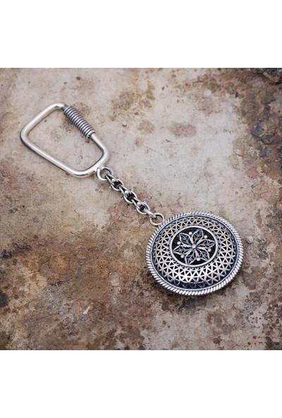 Sümer Telkari Telkari İşlemeli Gümüş Anahtarlık 60